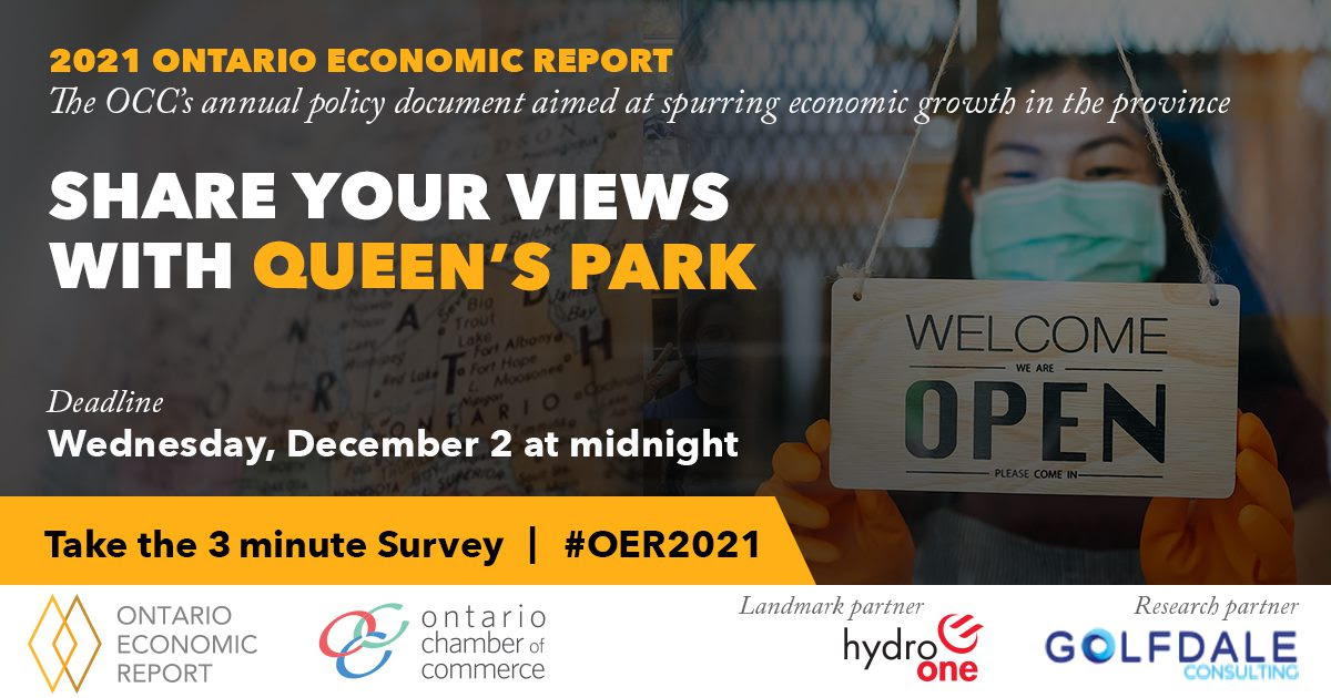 Final OCC survey for this year's Ontario Economic Report (OER)